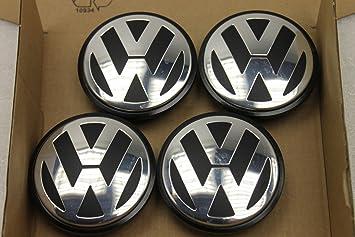 4 x Volkswagen Golf Passat Touran 3b7601171 tapabujes para llantas 65mm exteriores: Amazon.es: Coche y moto