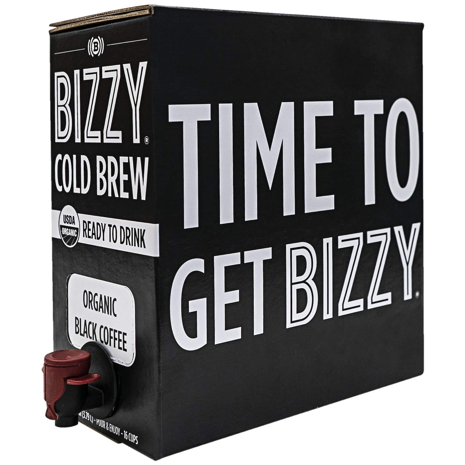 Bizzy Organic Cold Brew Coffee - Ready-to-Drink - 128 fl oz Bag-in-box - Coffee on Tap