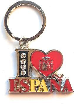 ValmoniSport Llavero I Love ESPAÑA Letras Colores Bandera de ...