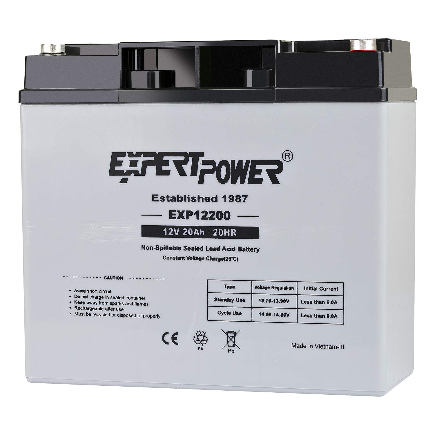 ExpertPower EXP12200 12V 20AH Lead_Acid_Battery by ExpertPower