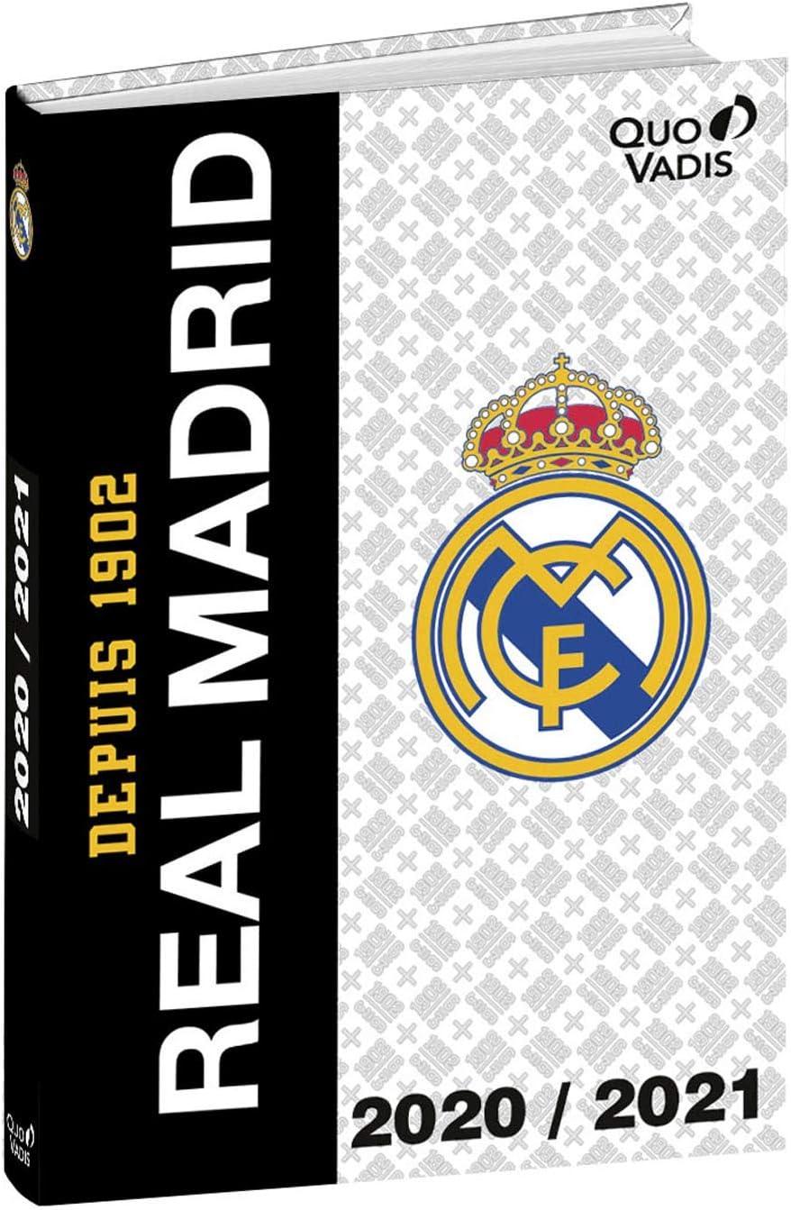Quo Vadis Real Madrid TEXTAGENDA Agenda escolar diaria 12 x 17 cm 1902 año 2020-2021