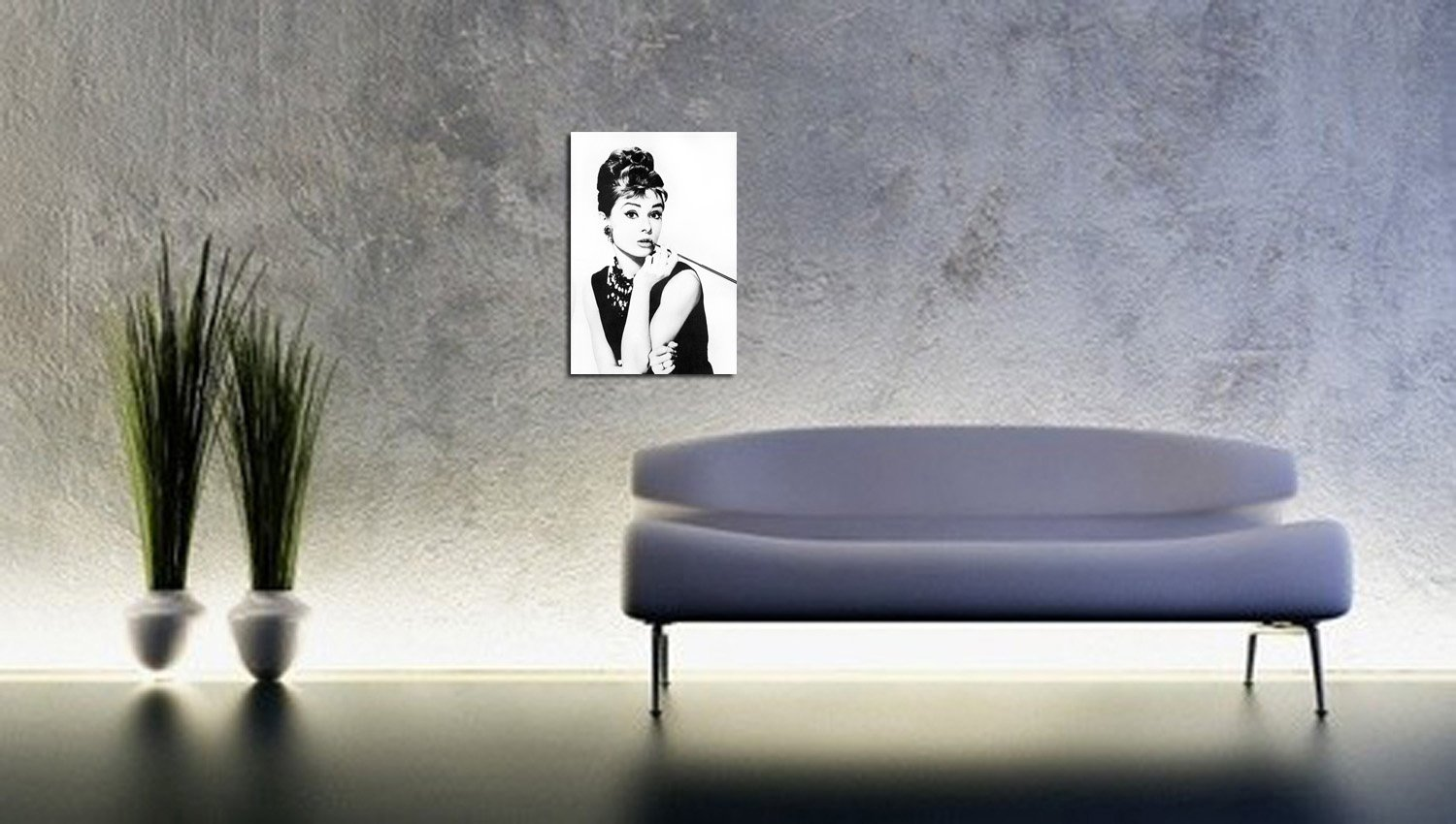 66815592d261 Audrey Hepburn Smoking Picture on Canvas Breakfast at Tiffany s Art Print  Movie Film Glamour Star Decorative Art Print on Stretcher Frame Ready to  Hang 80 x ...