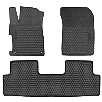 HD-Mart Car Floor Mat for Honda Civic 9th Generation 2012 2013 2014 2015, Custom Fit Rubber Full Black Auto Floor Liners Mat All Weather Protection Heavy Duty Odorless: Automotive