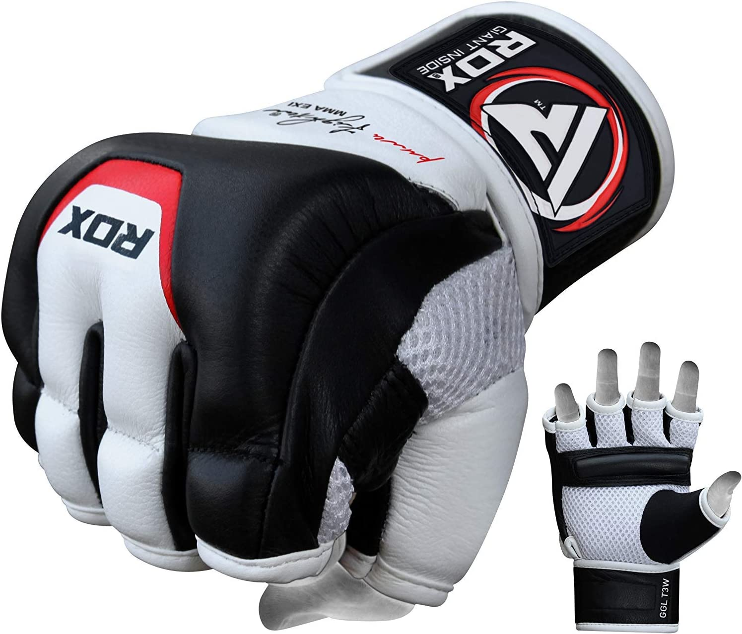 Faux Leather Boxing MMA Gloves Grappling Punching Bag Training Martial Sparring