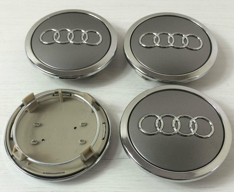 Set of 4/Audi Alloy Wheel Badges Central Hub Caps Grey 69/mm 4B0601170/A S3/S4/A2/A3/A4/A6/A8/TT RS4/A6/S6/RS6/TT Q5/Q7/S3/S4/and other models