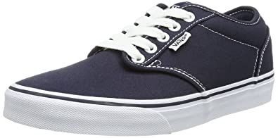 Vans Atwood Low Grey White Womens Canvas Trainers Shoes-3 VADNWr