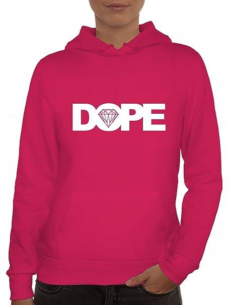 Mujer Sudadera con capucha la marca Camiseta street24 con DOPE Diseño rosa: Amazon.es: Ropa y accesorios