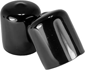 Prescott Plastics 10 Pack: 3/4 Inch Round Black Vinyl End Cap, Cover Rubber Flexible Tube Pipe Marine Safety Tip 0.75""