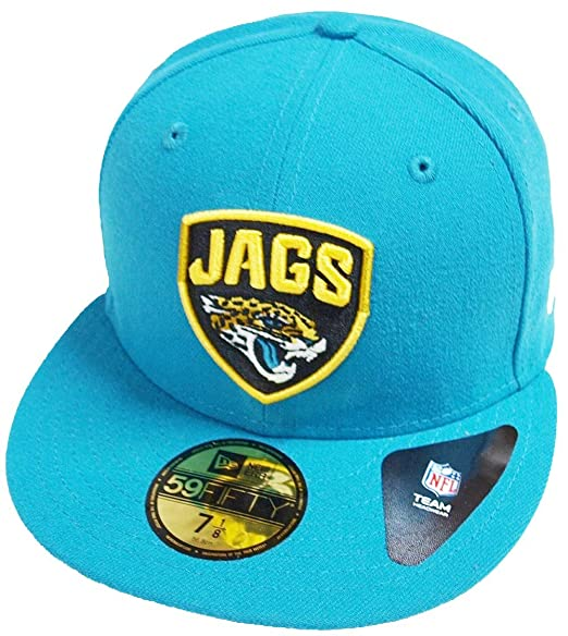 New Era Jacksonville Jaguars Teal Shield NFL Cap 59fifty 5950 Fitted  Basecap Kappe Men Special Limited Edition  Amazon.co.uk  Clothing c89afa7c8