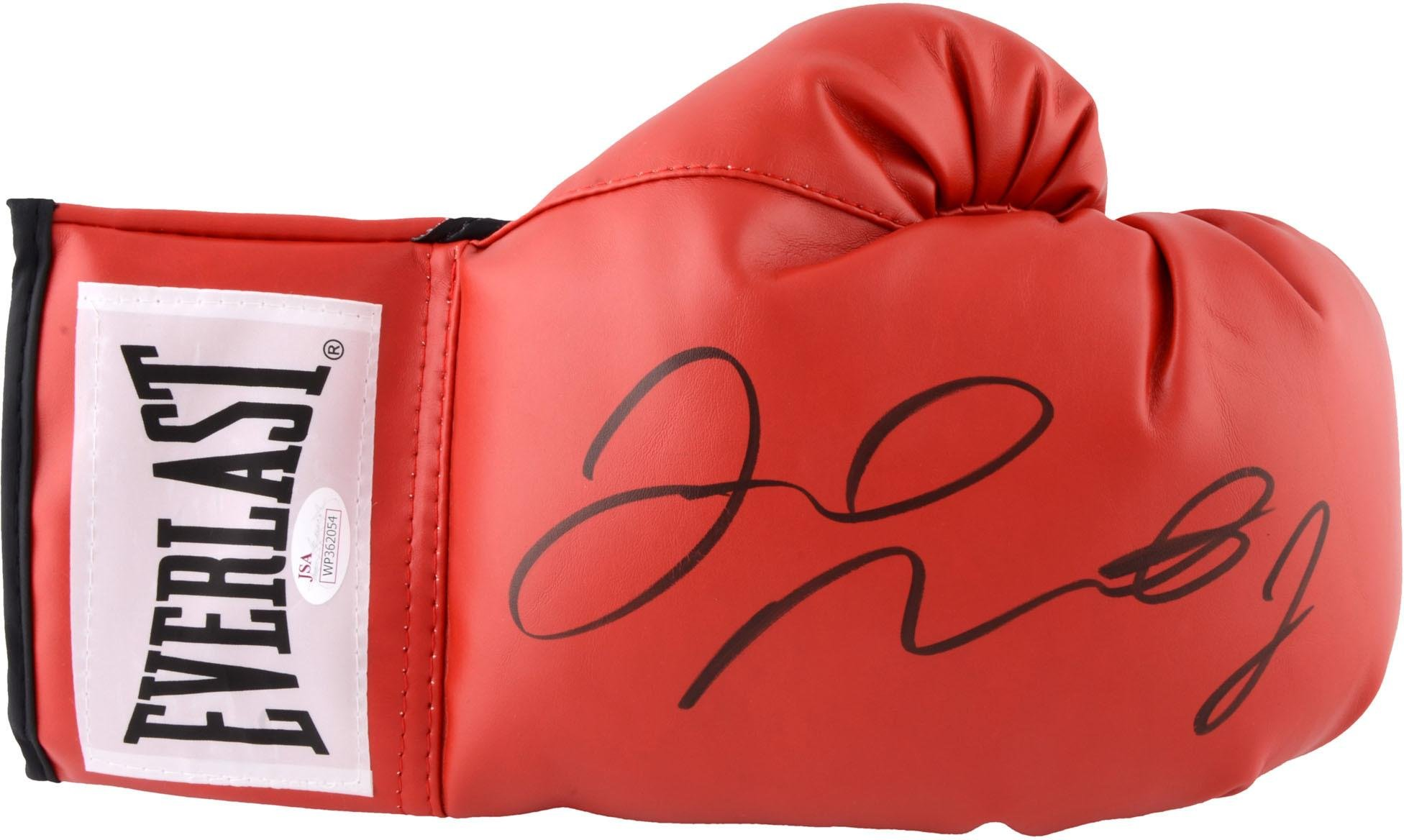Floyd Mayweather Autographed Red Everlast Boxing Glove Fanatics Authentic Certified Autographed Boxing Gloves