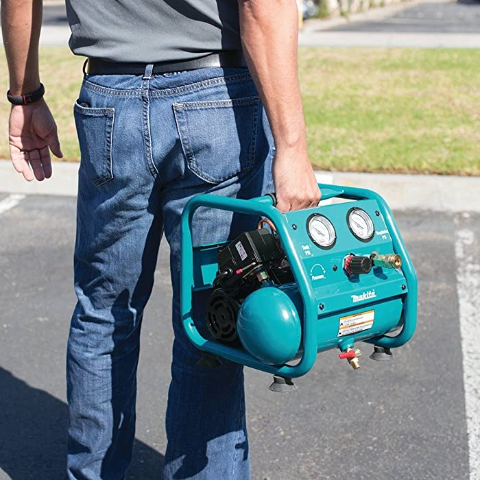 Makita AC001 Air Compressor is just about 27.4 pounds