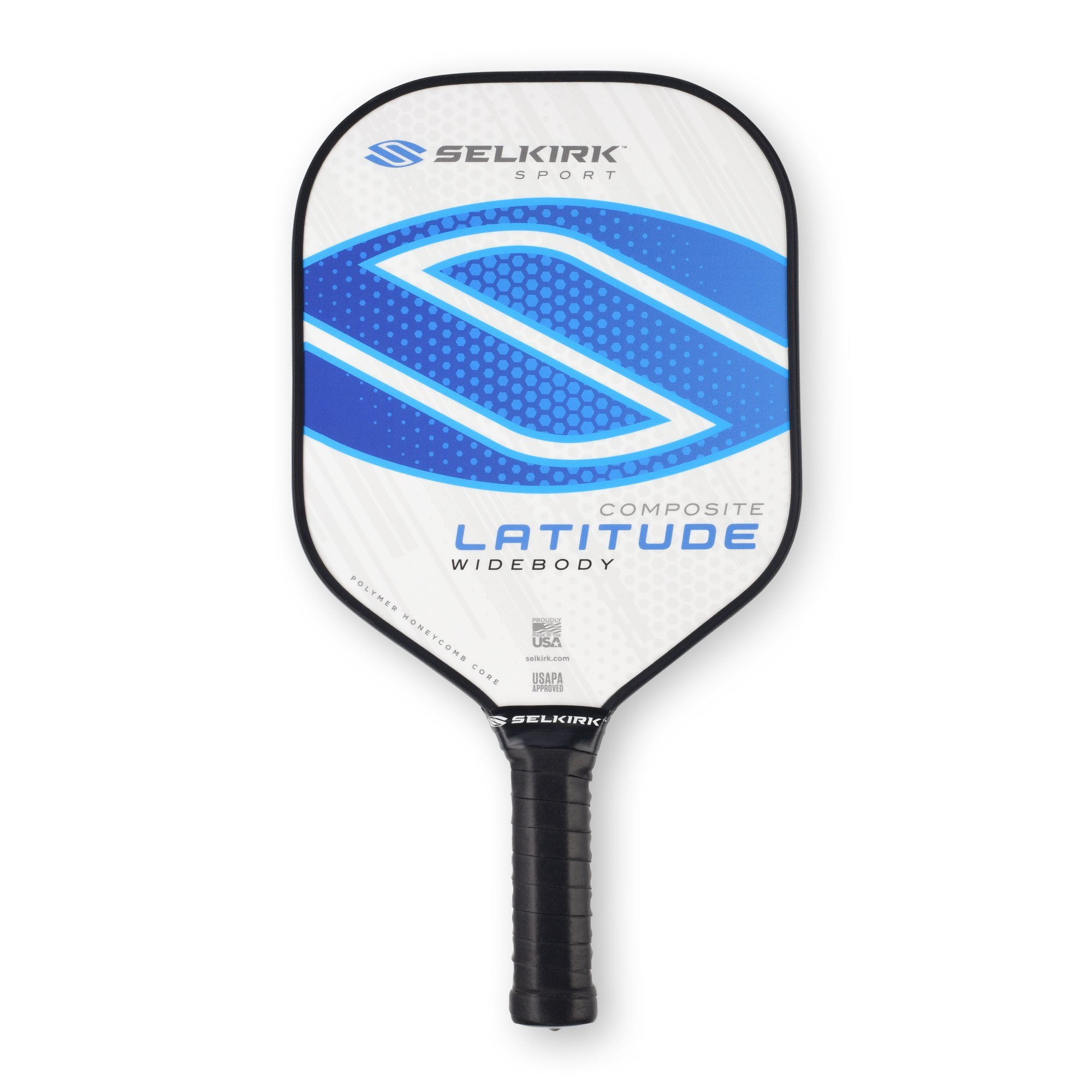 Selkirk Latitude Widebody Composite Pickleball Paddle - USAPA Approved - PowerCore Polymer Core - PolyFlex Composite Surface - EdgeSentry Protection - ThinGrip Handle (Blue Force) by Selkirk Sport