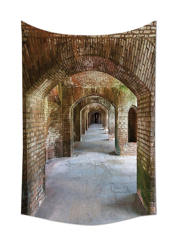 asddcdfdd Apartment Decor Tapestry Brick Arches At Dry Tortugas Old Fort Historic Heritage Tourist Attraction Vintage Deco Bedroom Living Room Dorm Decor Bronze