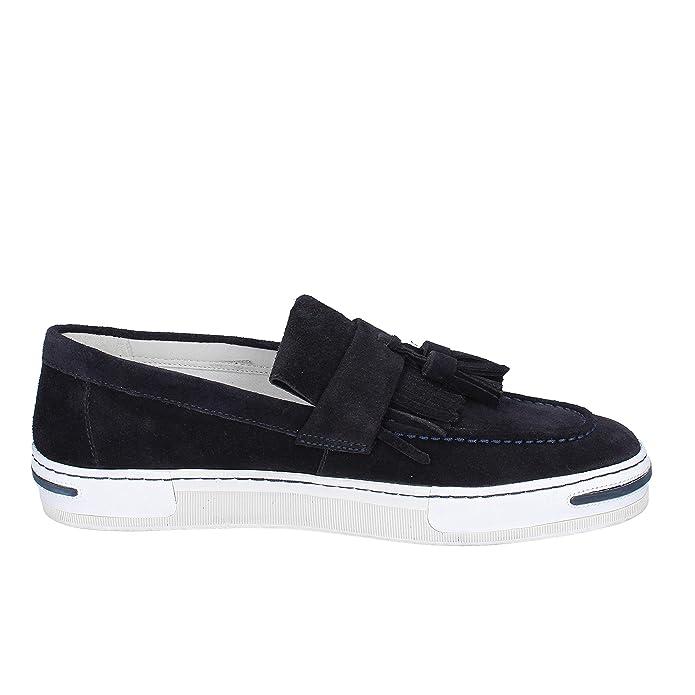 ARMANI Jeans Mocasines Hombre Gamuza Azul: Amazon.es: Zapatos y complementos
