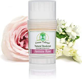 product image for Green Tidings Natural Deodorant - Jasmine Rose 1 oz. - Extra Strength, All Day Protection - Vegan - Cruelty-Free - Aluminum Free - Paraben Free - Non-Toxic - Solid Lotion Bar Tube