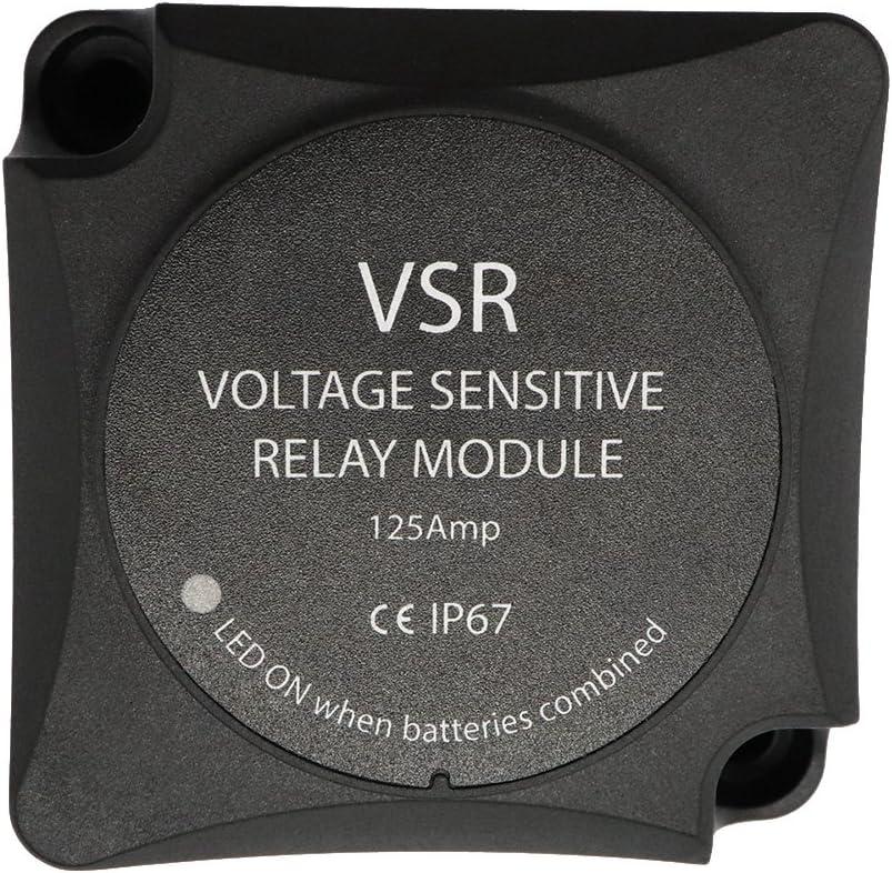 Festnight Vsr Voltage Sensitive Relay Voltage Sensitive Relay Automatic Charging Relay 125A Dual Battery Isolator VSR