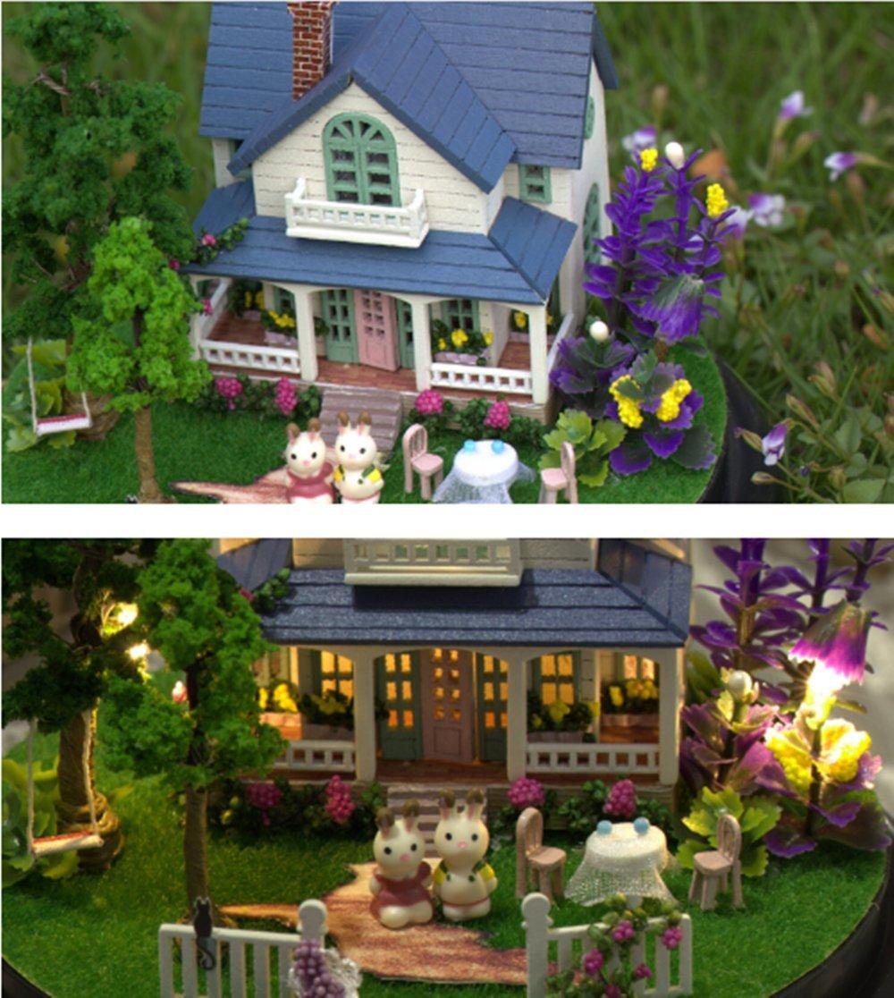 amazon com flever dollhouse miniature diy house kit creative room