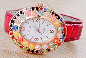MICAIAH Casual Watch For Girls Analog pink Leather - 1106