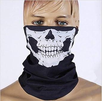Men//Women Halloween Bandana Scarf Ghost Scary Half Balaclava Cover Shield G9K7