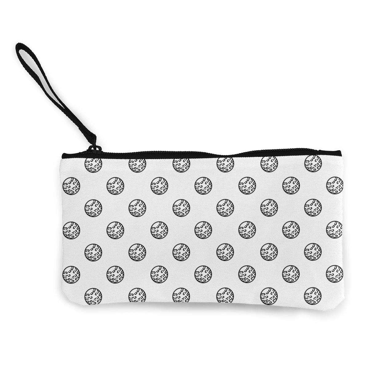 Cellphone Clutch Purse With Wrist Strap Mars Planet Pattern Womens Canvas Coin Wallet Zipper Small Purse Wallets