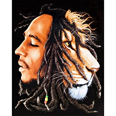 Amazoncom Bob Marley Lions Head Tapestry Clothing