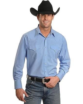 4ec5fbfd6c7 ELY CATTLEMAN Men s Solid Classic Western Shirt Custom Fit