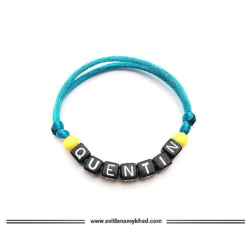 acheter pas cher style de la mode de 2019 nouveau style de Bracelet QUENTIN personnalisable avec prénom, message, logo ...