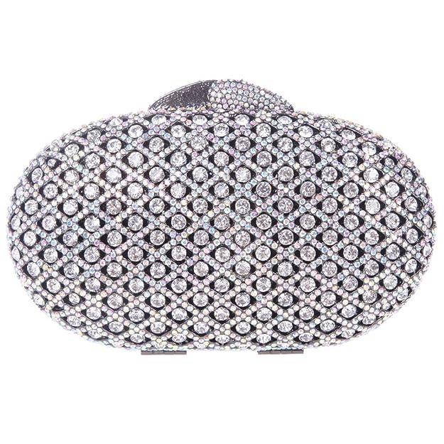 Amazon.com: fawziya Studded de vidrio ovalado fiesta bolso ...