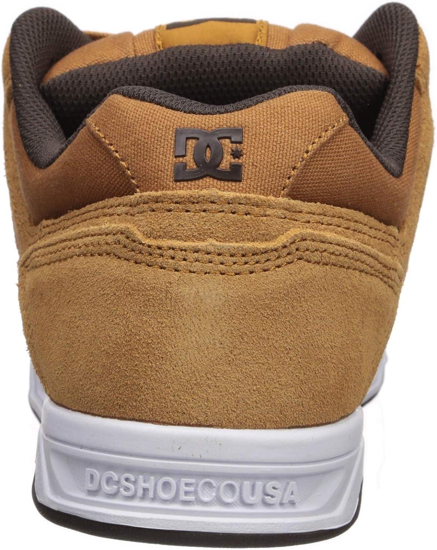 DC Shoes Herren Stag Turnschuh Braun Braun Weiß
