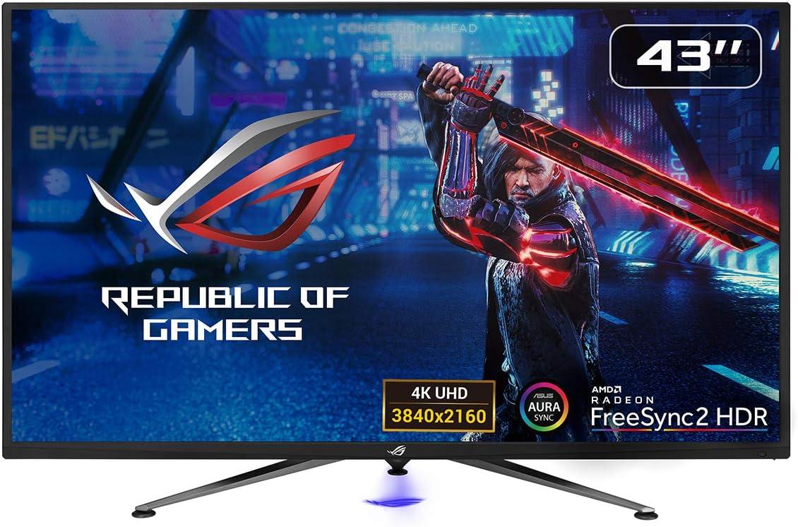 ASUS ROG Strix XG438Q - Monitor Gaming de 43'' 4K (3840x2160, 16:9, 120 Hz, 4 ms, Freesync Premium Pro, HDR 600, USB, DVI, Displayport, HDMI) Negro