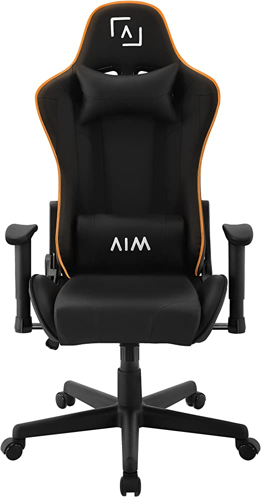 AIM silla gaming profesional, iluminación DNA RGB, reclinable 180º ...