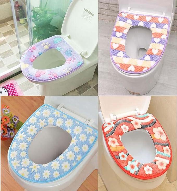 weiche Toiletten-Matte Antibakteriell purpurrot Elegante Toilettensitz-Auflagen