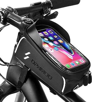 Amazon.com: Opamoo Bolsa de bicicleta, bolsa de marco ...