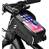 Bike Phone Front Frame Bag - Waterproof Bicycle Top Tube Cycling Phone Mount Pack Phone Case for 6.5'' iPhone Plus xs max