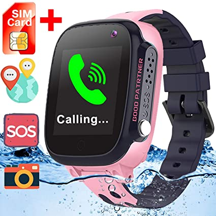 [Free SIM Card] Upgrade Waterproof Smart Watches-GPS Tracker Game Smart Watch Phone for Kids Boys Girls Prime Gifts Back to School Supplies Wrist ...