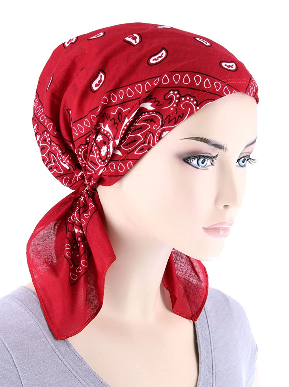 Paisley Bandana Scarf Pre Tied Cotton Chemo Hat Turban for Cancer Red at  Amazon Women s Clothing store  ff6c43a77c4