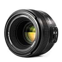 Yongnuo Obiettivo YN 50 mm f / 1.8 AF / MF per Nikon FX DSLR DX + sacchetto di trasporto