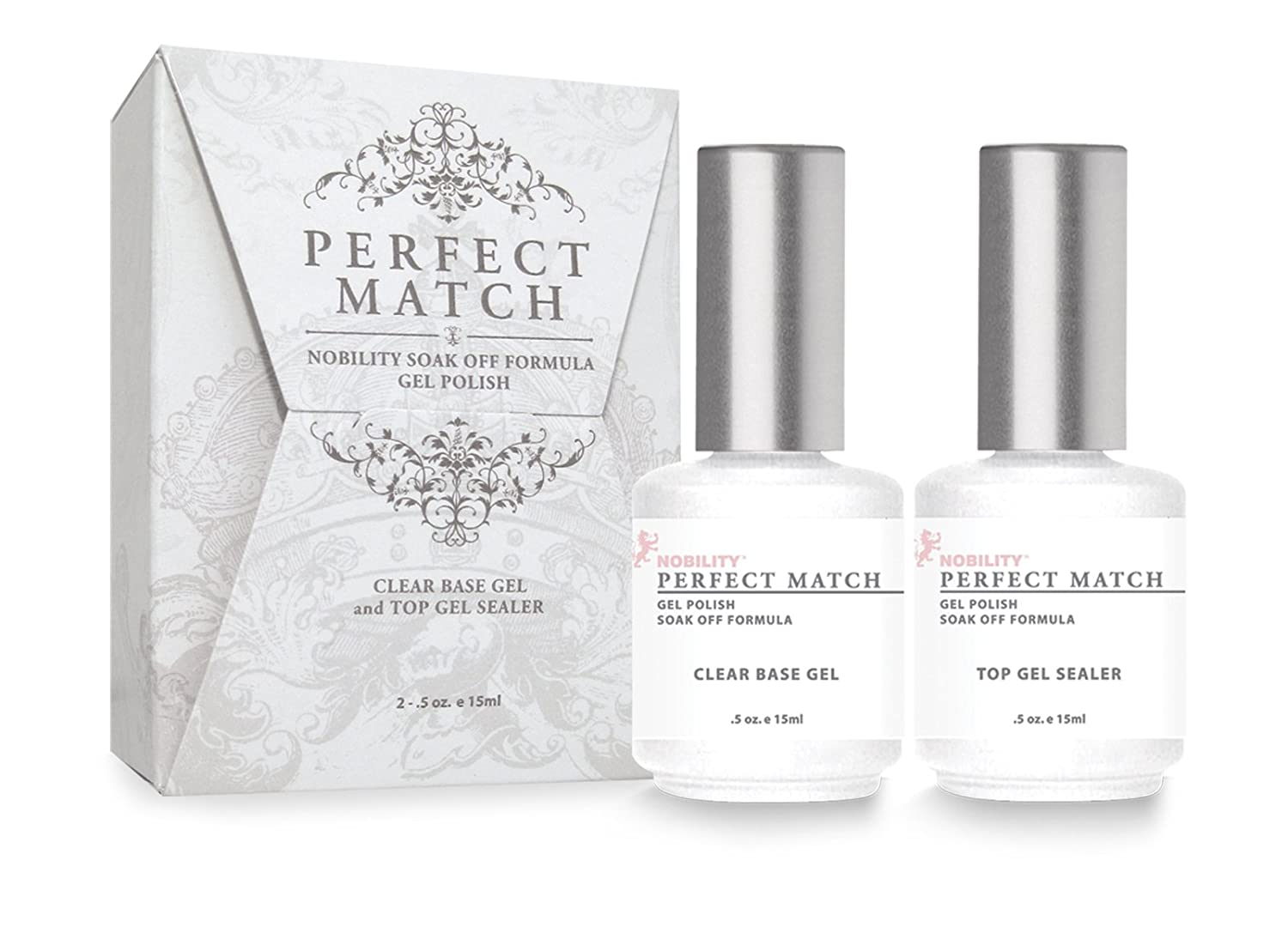 Amazon.com : LeChat Perfect Match DUAL SET Soak Off Gel Polish Base ...