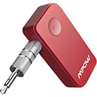 Mpow Bluetooth V5.0 Empfänger Drahtlos Bluetooth Receiver Tragbare Bluetooth Adapter Audiogeräte für KFZ Auto Lautsprechersystem mit Stereo 3.5 mm Aux Input