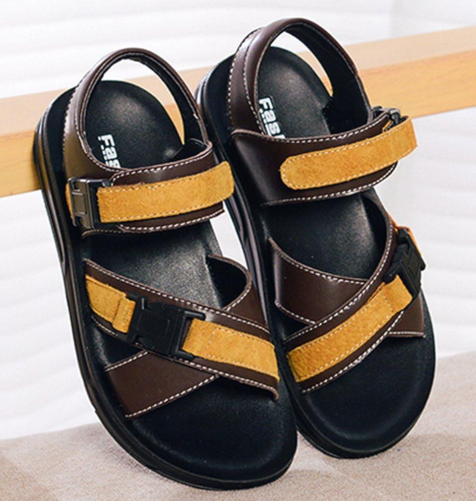VECJUNIA Boys Outdoor Flat Sandals Buckle Open-Toe Summer Running Shoes