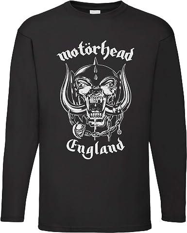 LaMAGLIERIA Camiseta de Manga Larga Hombre Motorhead Huge War Pig - Camiseta 100% algodón Rock Metal Band: Amazon.es: Ropa y accesorios