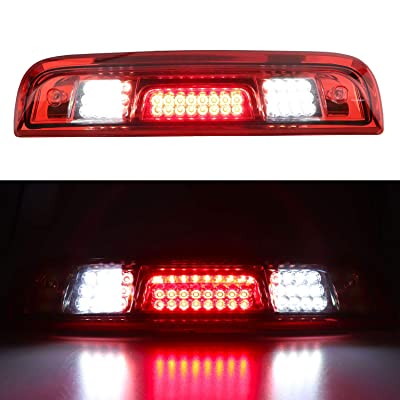 for 2014-2020 Chevrolet Silverado/GMC Sierra 1500 2500HD 3500HD 3rd Third Brake Light Cargo Light High Mount Lamp LED Stop Light (Red): Automotive