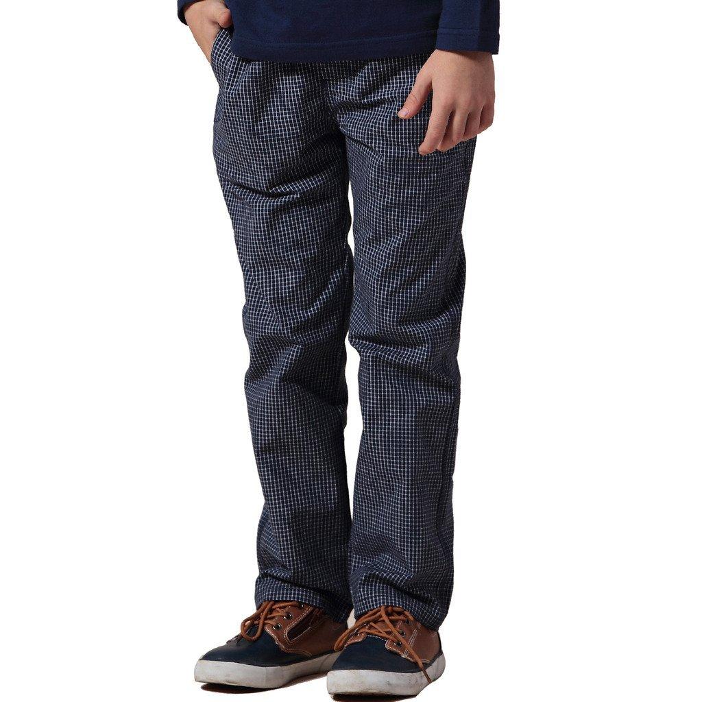 Leo/&Lily Big Boys Kids Casual Husky Waist Yarn Dyed 100/% Cotton Pants