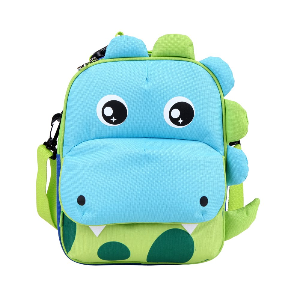 Yodo Playful 3-Way Kids Insulated Lunch Bag - Preschool Toddler Backpack,FDA-approved liner, Large Front Quick Access Pouch for Snacks or Knickknacks, Tiger Yodo Group CA22184522-RV
