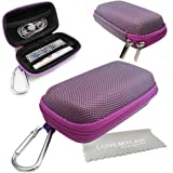 LOVE MY CASE / DURABLE Purple MP3 Player Case, Hard Clamshell Case, Earphone Case, Holder with Metal Carabiner Clip for Apple iPod Nano 7th Generation with Love My Case Cleaning Cloth
