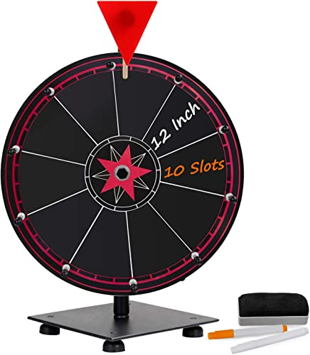 T-SIGN 12 Inch Heavy Duty Spinning Prize Wheel