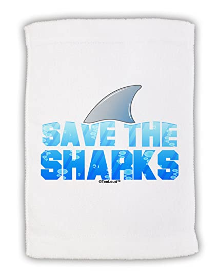 amazon com tooloud save the sharks fin color micro terry sport