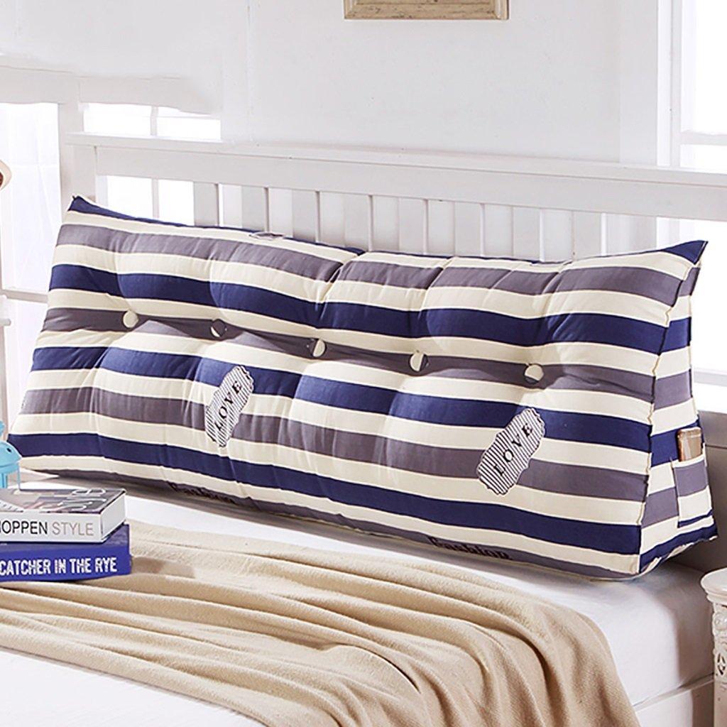 HUANLIN Divano letto grande cuscino triangolare riempito cuscino letto cuscino schienale letto letto con copertura rimovibile ( dimensioni : 60*45*21cm )