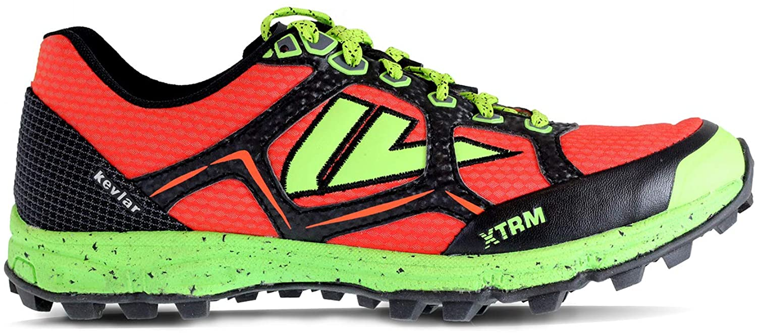 VJ XTRM OCR Shoes - Trail Running Shoes Women and Mens with a Full Length Rock Plate - Made for Rocky and Technical Mountain Trails and Obstacle Course Races - Mens 12 Red