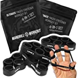 4PCS Hand Therapy Finger Stretcher, 4 Levels Hand Resistance Bands, Hand Therapy for Arthritis, Carpal Tunnel & Post-Surgery